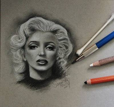1950s Movies Mixed Media - Marilyn by Samantha Howell