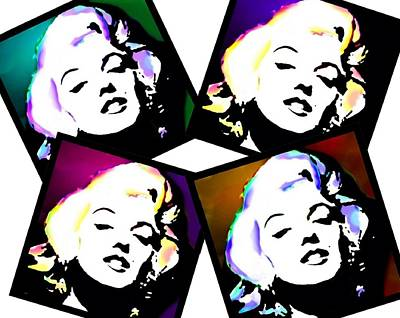 Woman Digital Art - Marilyn Snapshots by Cindy Edwards