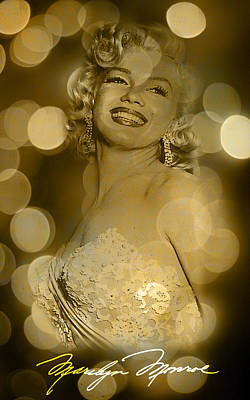 Digital Art - Marilyn Sparkles by Greg Sharpe