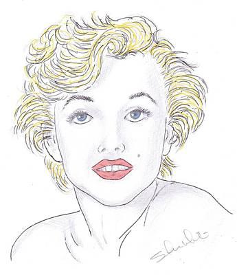 Steven White Drawing - Marilyn by Steven White