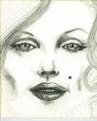 Drawing - Marilyn by Thomas Lupari
