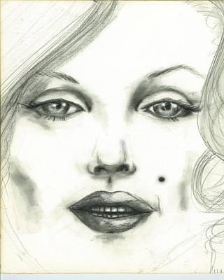 Drawing - Marilyn by Thomas Lupari