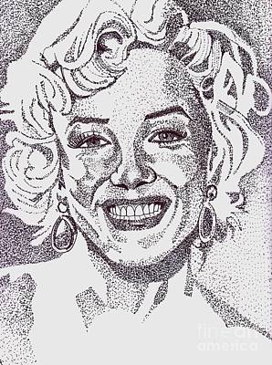 Drawing - Marilyn by Timothy Fleming