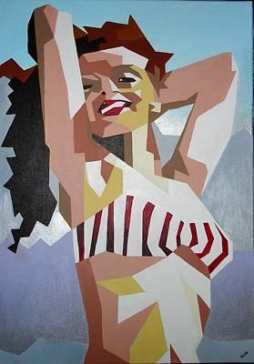 Marilyn Print by Tracey Harrington-Simpson