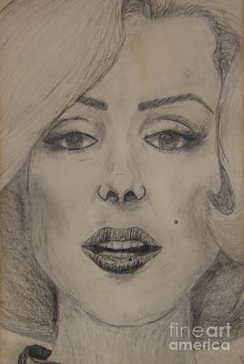 Sex Symbol Drawing - Marilyn by William Ohanlan