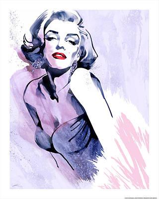Portrait Of Marilyn Monroe Painting - Marilyn's Pose by Ellie Rahim