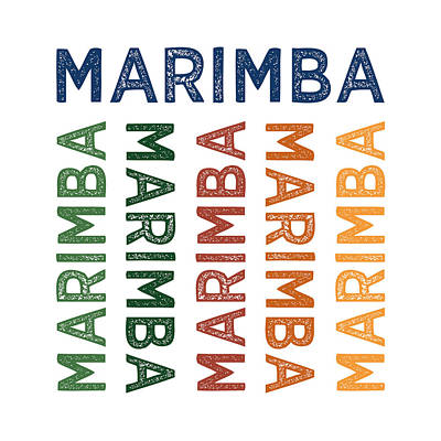 Primary Colors Digital Art - Marimba Cute Colorful by Flo Karp