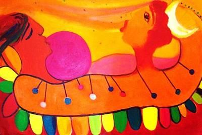 Painting - Marimba by Jose jackson Guadamuz guadamuz