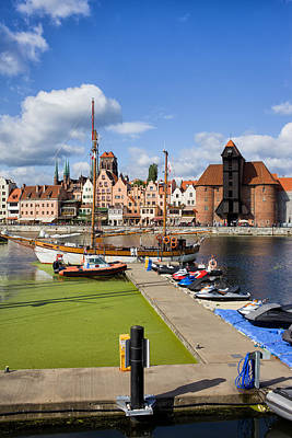 Danzig Photograph - Marina And Old Town Of Gdansk Skyline by Artur Bogacki