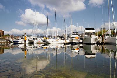 Outdoors Photograph - Marina At Granville Island Vancouver Bc by David Gn