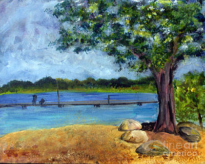 Remodernist Painting - Marina At Ocean Inlet In  Boynton Beach by Donna Walsh