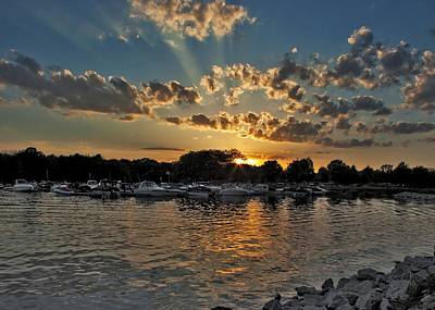 Photograph - Marina At Sunset by Ron Grafe
