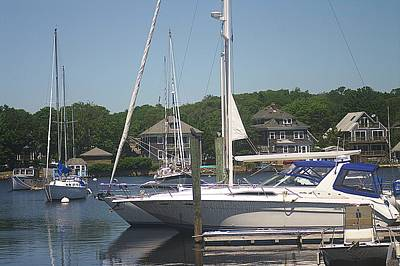 Art Print featuring the photograph Marina At Woods Hole Ma by Suzanne Powers