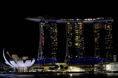 Marina Bay Sands Integrated Resort Hotel And Casino And Artscience Museum Singapore Marina Bay Art Print