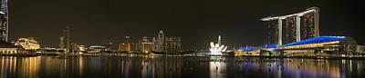 Photograph - Marina Bay Singapore At Night by Tony Mills