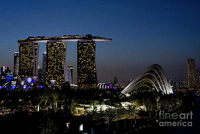 Marina Bay Skyline Art Print