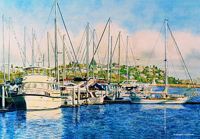 Painting - Marina Del Rey Afternoon by Douglas Castleman