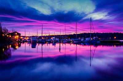Marina Dockside Sunrise Art Print