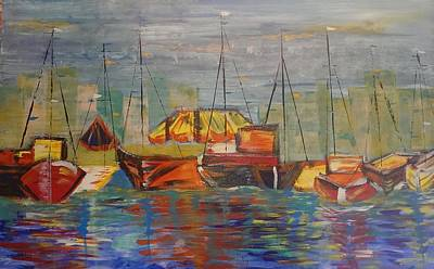 Marina  Art Print by Judi Goodwin