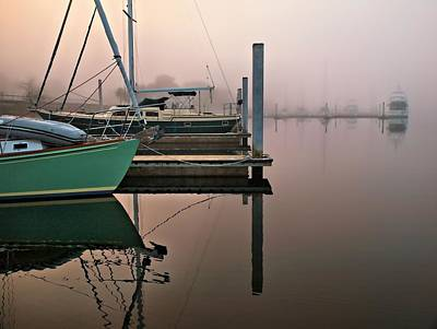 Art Print featuring the photograph Marina Morning by Laura Ragland