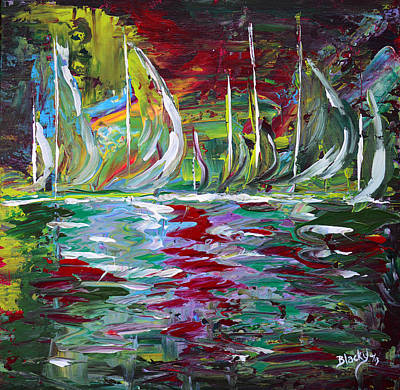 Painting - Marina Nights by Donna Blackhall