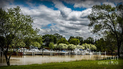 Photograph - Marina On Pine River In St Clair Mi by Ronald Grogan