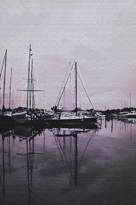 Photograph - Marina Reflections by Laurie Perry