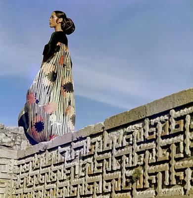 Photograph - Marina Schiano Wearing A Valentino Dress by Henry Clarke