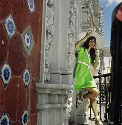 Photograph - Marina Shiano Wearing A Green Dress by Henry Clarke