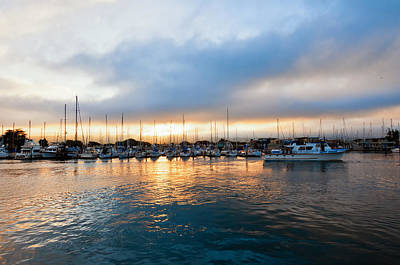 Photograph - Marina Sunrise 1 by Jim Thompson