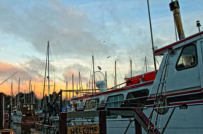 Photograph - Marina Sunrise by Jim Thompson
