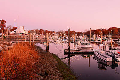 Boat Basins Photograph - Marina Sunrise by Lourry Legarde