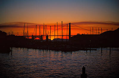 Photograph - Marina Sunset by Jeremy Herman