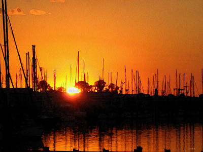 Photograph - Marina Sunset by Kathy Bassett