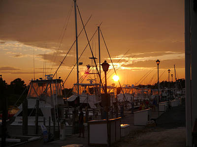 Photograph - Marina Sunset by Richard Reeve
