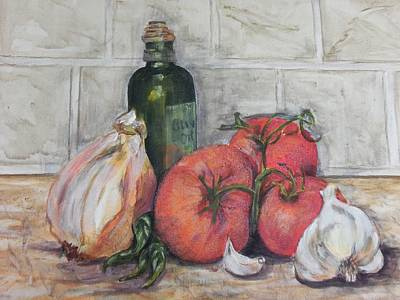 Painting - Marinara Recipe by Maureen Pisano