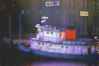 Bot Digital Art - Marine Boat Docked by Cathy Anderson