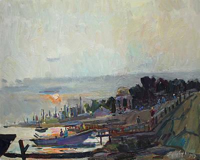 Painting - Marine City by Juliya Zhukova