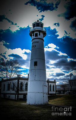 Photograph - Marine City Michigan Lighthouse by Ronald Grogan
