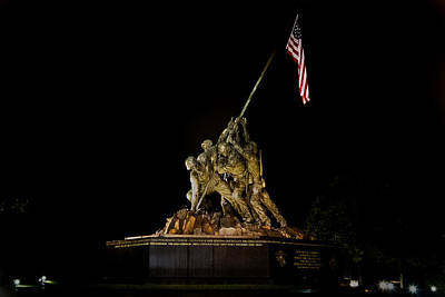Photograph - Marine Corp Memorial by Jerry Gammon