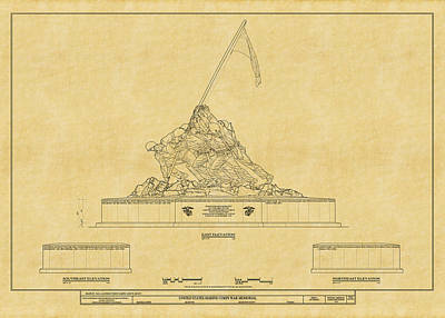 Photograph - Marine Corps Memorial by Andrew Fare