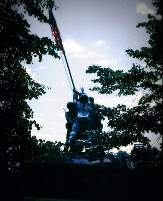Photograph - Marine Corps War Memorial by John Warren