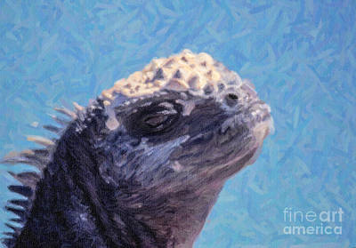 Digital Art - Marine Iguana Portrait by Liz Leyden