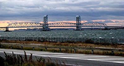 Mountain Landscape Royalty Free Images - Marine Parkway Bridge Royalty-Free Image by Jeff Watts