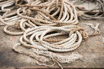 Marine Ropes Beige And Brown Colors Art Print by Matthias Hauser