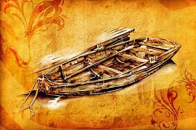 Historic Schooner Digital Art - Marine Sea 01 by Rafal Kulik