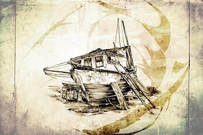 Historic Schooner Digital Art - Marine Sea 02 by Rafal Kulik