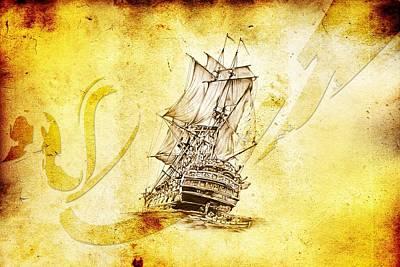 Historic Schooner Digital Art - Marine Sea 07 by Rafal Kulik