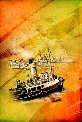 Historic Schooner Digital Art - Marine Sea 08 by Rafal Kulik