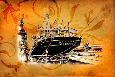 Historic Schooner Digital Art - Marine Sea 09 by Rafal Kulik